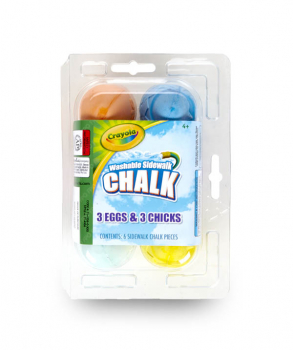 Crayola Egg & Chick Sidewalk Chalk (6 count)