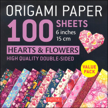 Origami Paper 100 Sheets Hearts & Flowers 6""