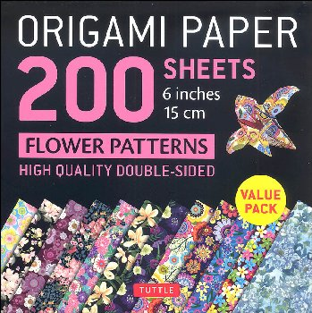 Origami Paper 200 Sheets Flower Patterns 6""