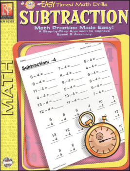 Subtraction (Easy Timed Math Drills)