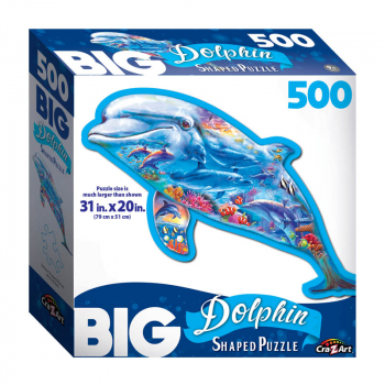 Big Shaped Dolphin Ocean Jigsaw Puzzle (500 piece)
