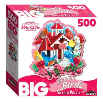 Big Shaped Garden Birds Jigsaw Puzzle (500 piece)