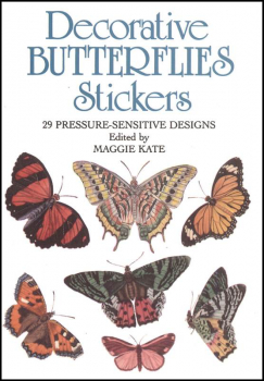 Decorative Butterflies Small Format Stickers