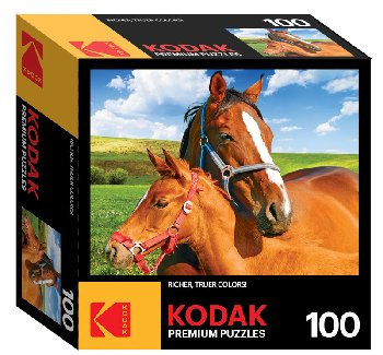 Kodak Mare and Foal Puzzle (100 piece)