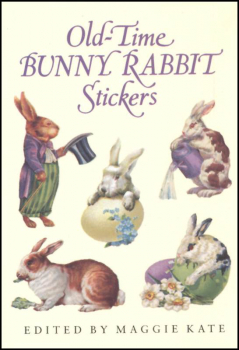Old Time Bunny Rabbits Small Format Stickers