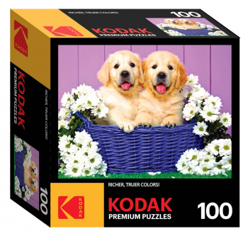 Kodak Puppy Basket Puzzle (100 piece)