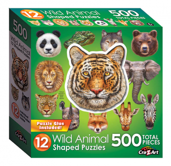 Mini Shaped Wild Animals Puzzle (500 piece)