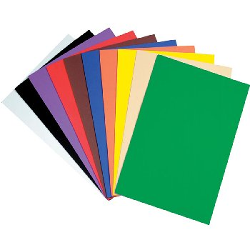 "WonderFoam Sheets Assorted Colors 12"" x 18"" - 10 Sheets"