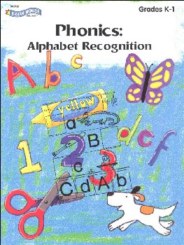 Color, Cut & Paste Phonics: Alphabet Recognition