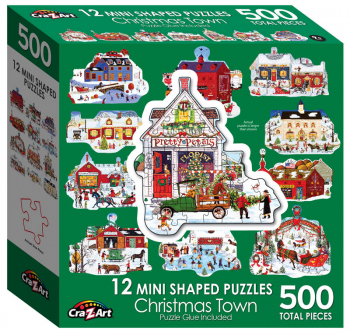 Mini Shaped Merry Town Puzzle (500 piece)