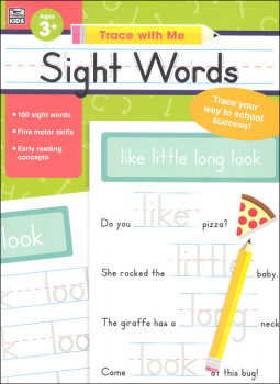 Sight Words Activity Book (Trace with Me)