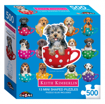Mini Shaped Pups in Cups Puzzle (500 piece)