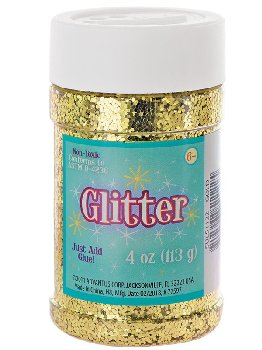Glitter Shaker Top Jar - Gold (4oz/76 grams)