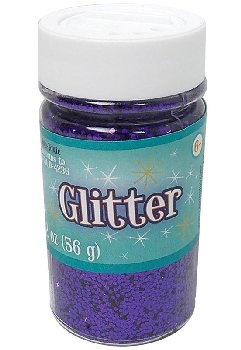 Glitter Shaker Top Jar - Purple (4oz/76 grams)