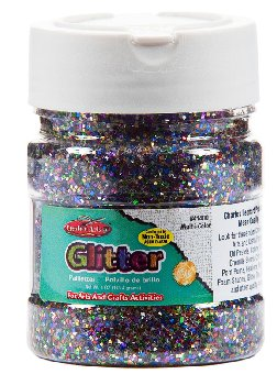 Glitter Shaker Top Jar - Multi Colored (4 oz)