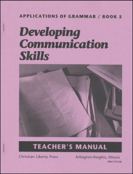 Applications of Grammar 5 Teacher Manual