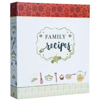 My Family Recipe Binder - Vintage Red