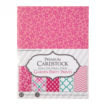 "Patterned Cardstock Paper Pack: Garden Party (8.5""x11"")"