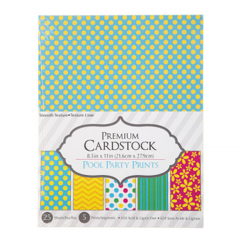 "Patterned Cardstock Paper Pack: Pool Party (8.5""x11"")"