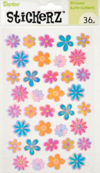 StickerZ: Opalescent Flowers (36 pieces)