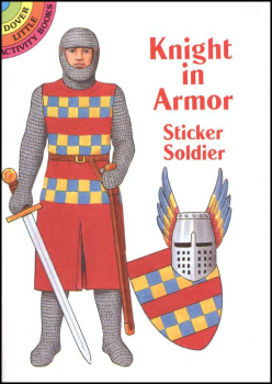Knight in Armor Sticker Paper Doll