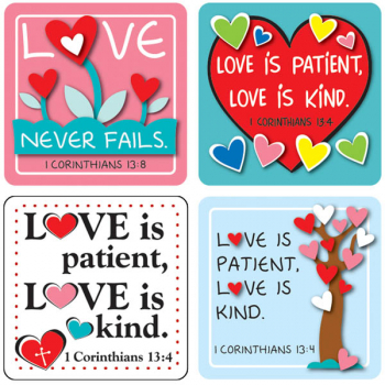 Scripture Stickers: Love Verses