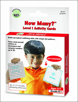How Many? Activity Cards Level 1 (Sensational Math)