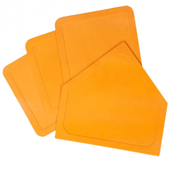 Throw-down Home Plate & 3 Base Set (Orange Rubber)