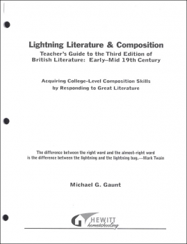 Lightning Literature & Composition British Literature Early - Mid 19th Century Teacher Guide
