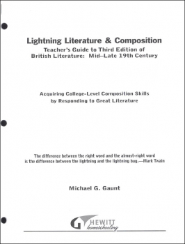 Lightning Literature & Composition British Literature Mid -Late 19th Century Teacher Guide