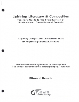 Lightning Literature & Composition Shakespeare Comedies and Sonnets Teacher Guide