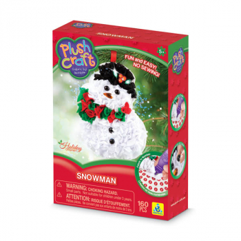 PlushCraft Holiday Ornament Snowman