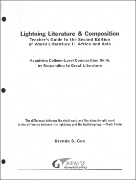 Lightning Literature & Composition World I Africa and Asia Teacher Guide