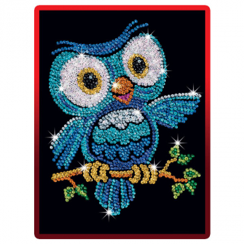Sequin Art Red Ozzy Owl