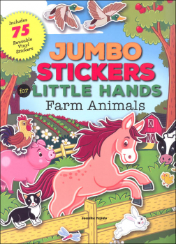 Jumbo Stickers for Little Hands Farm Animals