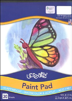 "uCreate Paint Pad (9""x12"") - 30 sheets"