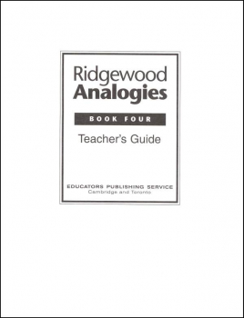 Ridgewood Analogies Book 4 Teacher Guide