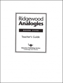 Ridgewood Analogies Book 5 Teacher Guide
