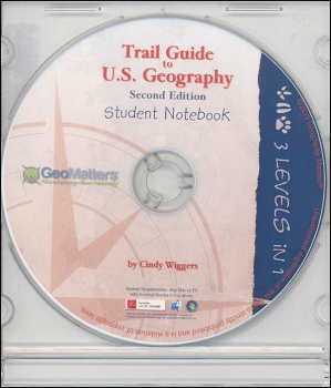 Trail Guide to U.S. Geography Student Notebook CD-ROM 2nd Ed.