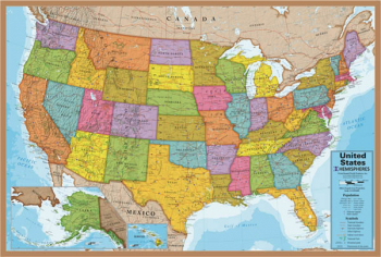 "U.S.A. Map Puzzle 24"" x 36"" - 500 Pieces"
