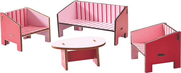Parlor Dollhouse Furniture (Little Friends)