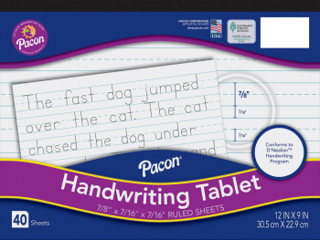 "Handwriting Tablet - 7/8"" ruled"