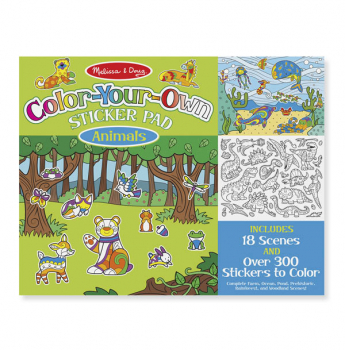 Color-Your-Own Sticker Pad Animals