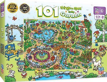 101 Things to Spot in the Garden (100 piece puzzle)