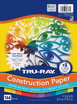 "Tru-Ray Color Wheel Assorted Colors (9"" x 12"")"