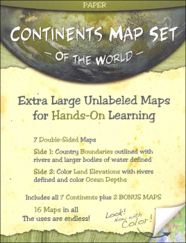 Continents Map Set - Paper