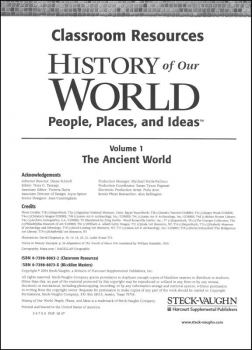 History of Our World Ancient World Resource Binder