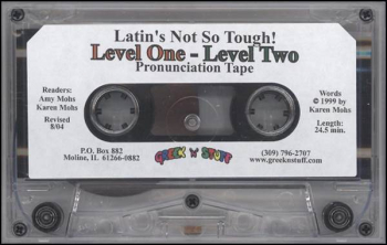 Latin's Not So Tough Pronunciation Tape for Levels 1-3