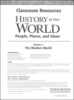 History of Our World Modern World Resource Binder