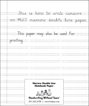 Narrow Double Line Notebook Paper (ream)